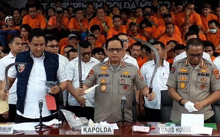 Selama Operasi 'Sikat Jaya 2019', Polda Metro Jaya Amankan 3.314 Pelaku Kejahatan