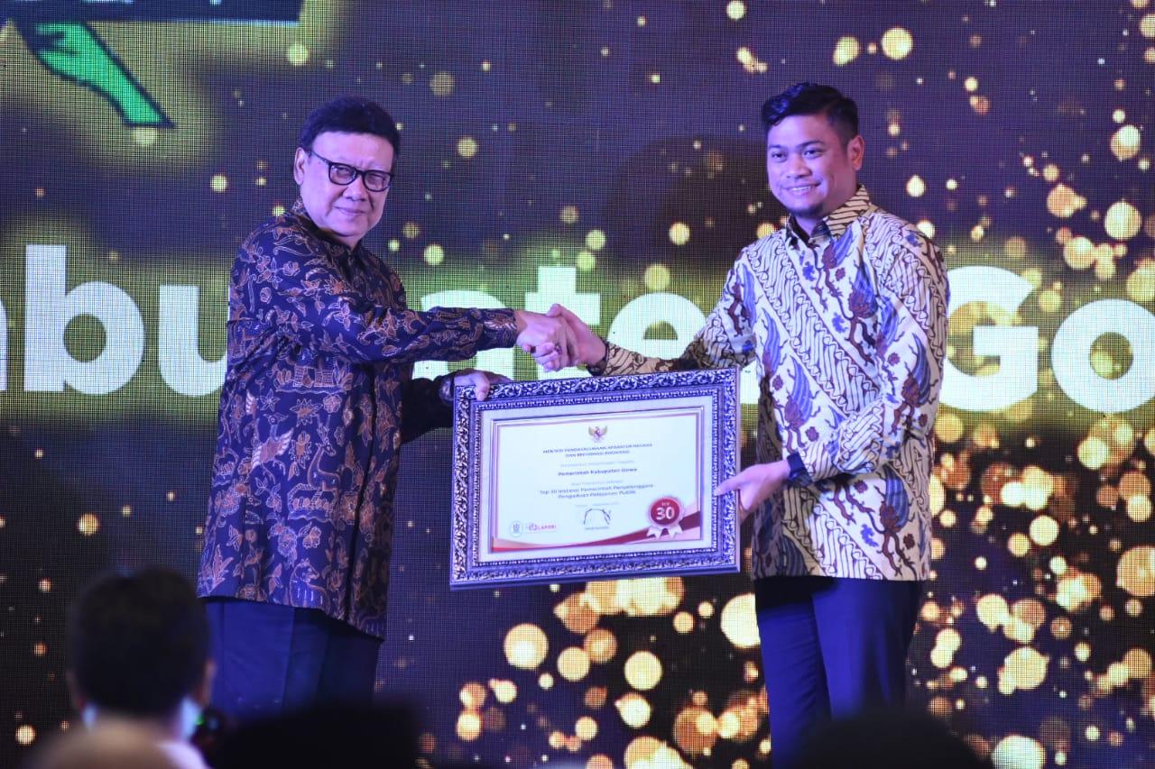 Berprestasi Pelayanan Publik, Pemkab Gowa Masuk Top 30 Terbaik se-Indonesia