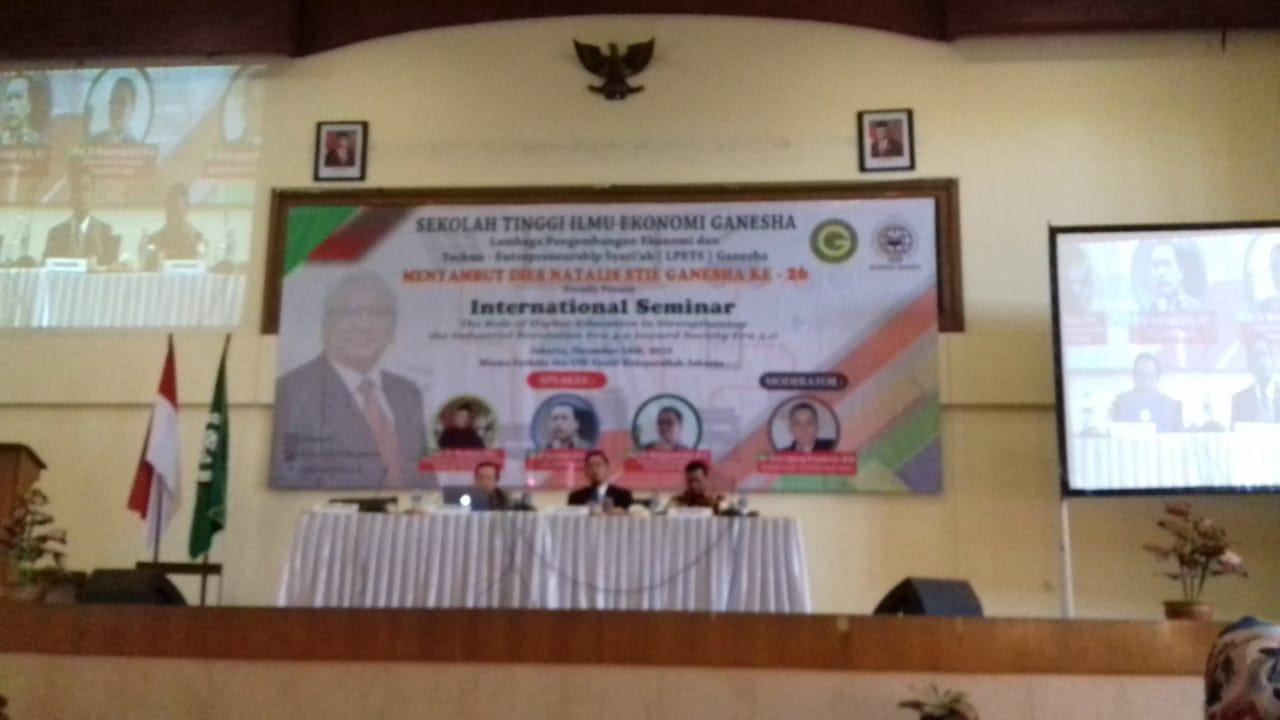 Jelang Dies Natalis ke-26, STIE Ganesha Jakarta Selenggarakan Seminar Internasional Revolution 4.0 dan 5.0