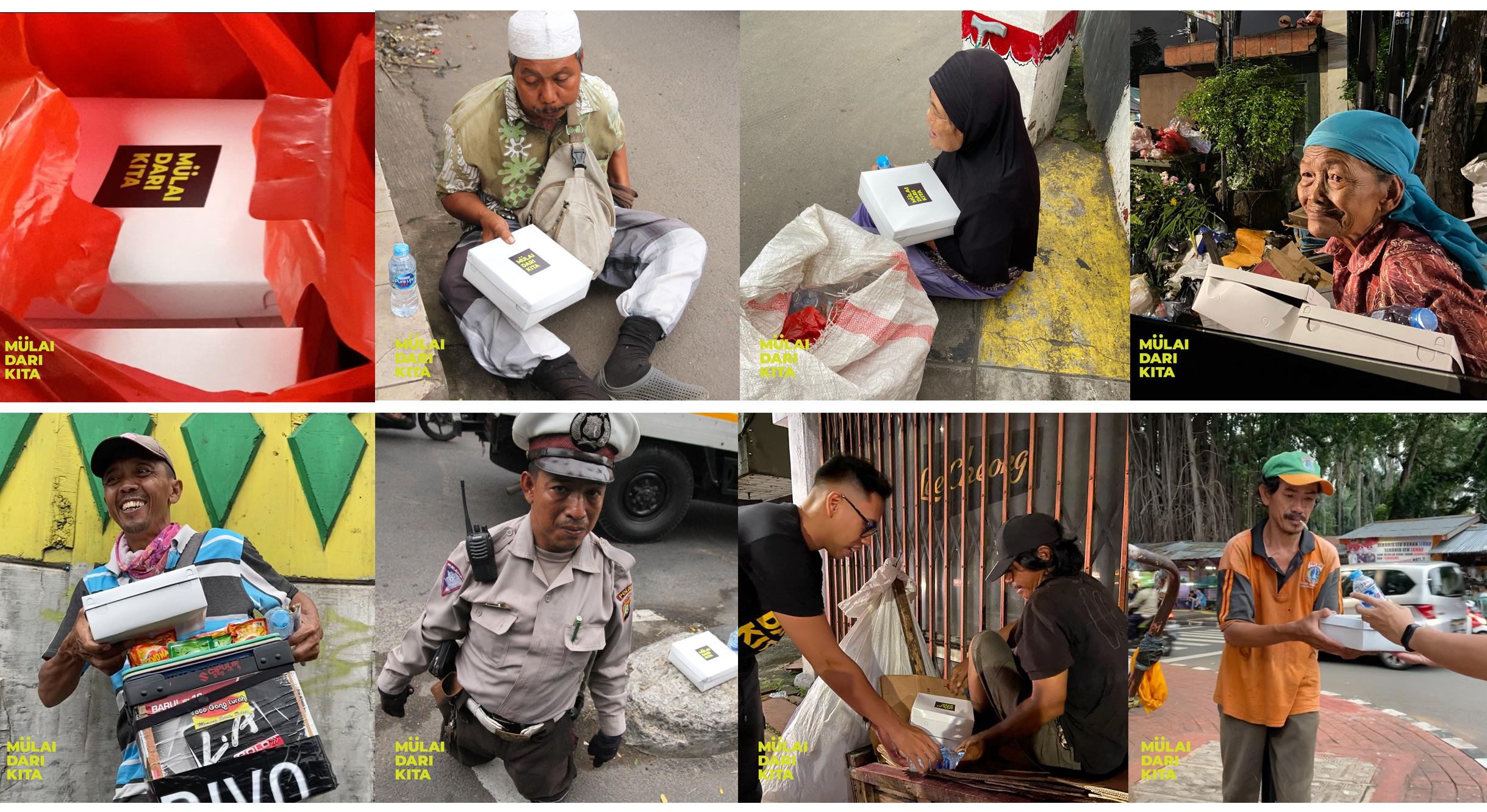 Berbagi 500 Kotak Makanan Untuk Yang Membutuhkan Di Jalanan