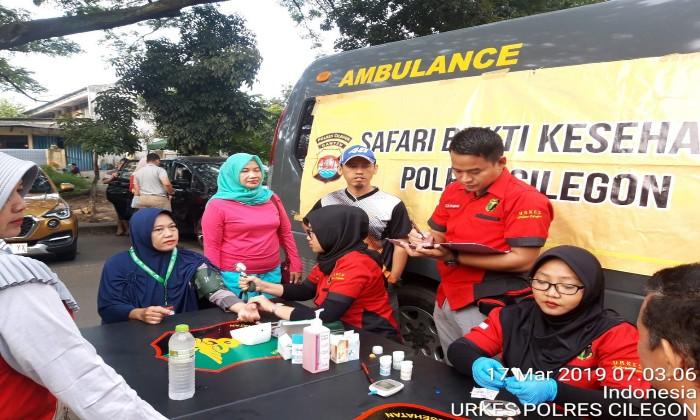 Biddokes Polda dan Polres Cilegon Bhakti Beri Layanan Kesehatan Jelang Pilkada Serentak 2020