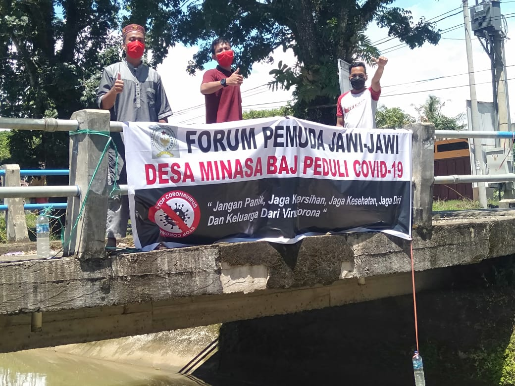 Masuk Zona Merah, Forum Pemuda Dusun Jawi – Jawi Desa Minasa Baji Mendirikan Posko Peduli Covid-19
