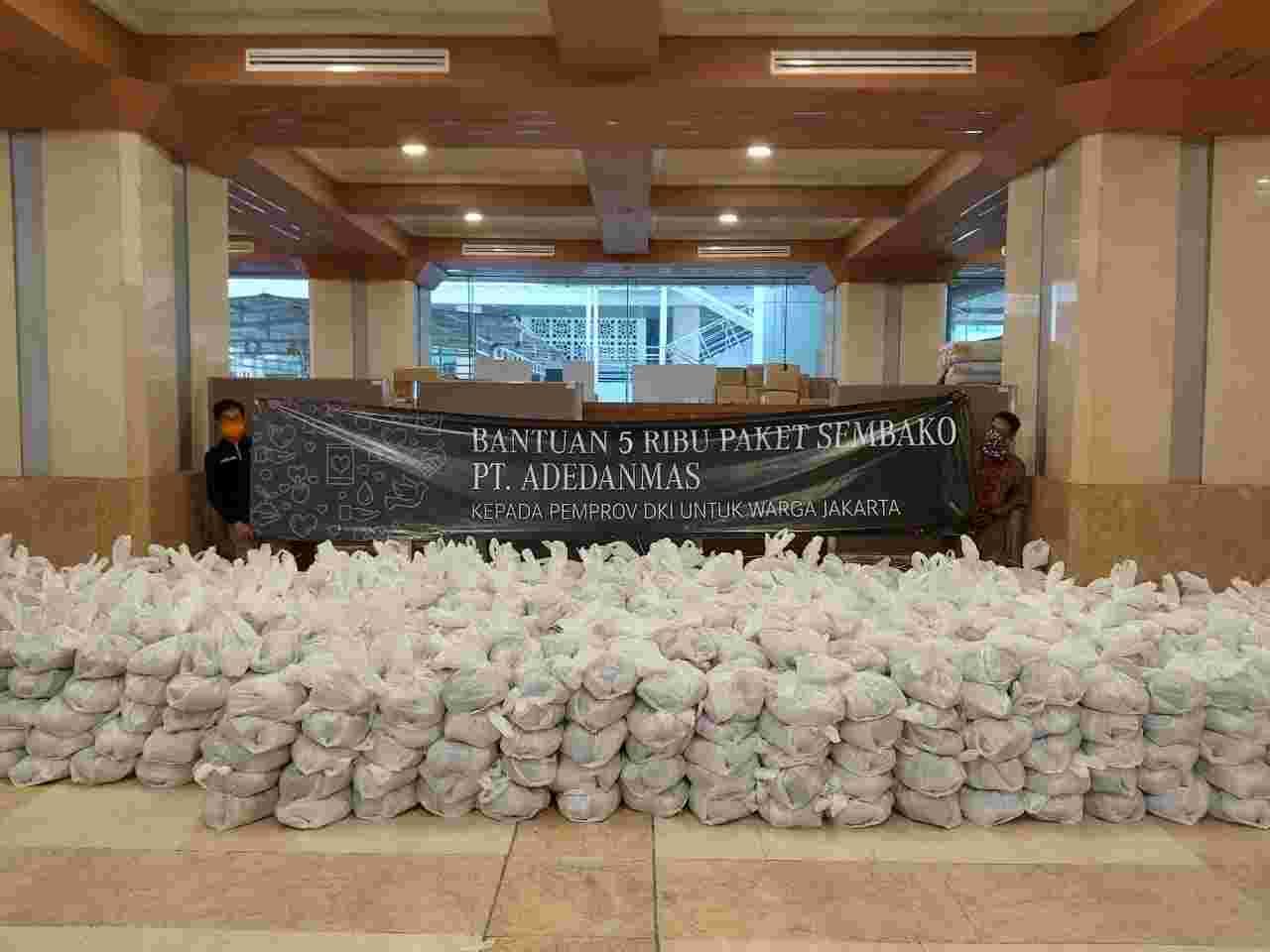 Pemprov DKI Jakarta Terima Bantuan 5.000 Paket Sembako dari PT Adedanmas Untuk Disalurkan ke Masyarakat