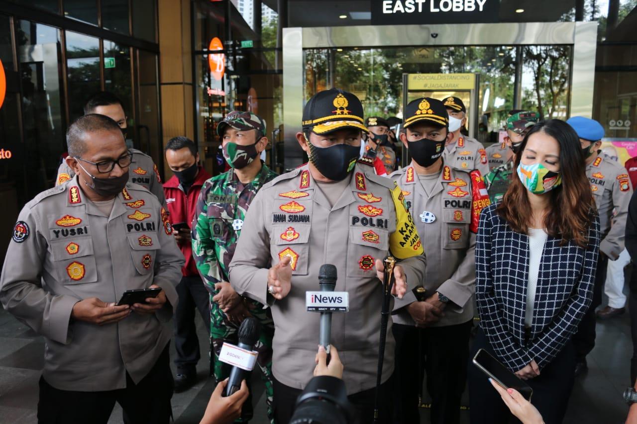Cek Kesiapan Protokol Kesehatan, Kapolda Metro Jaya Kunjungi Sejumlah Mall di Jakarta Selatan