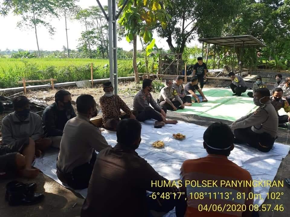 Memulai Pembangunan Rumah Khusus Polri Polsek Panyingkiran, Kapolsek Panyingkiran Pimpin Do'a Bersama