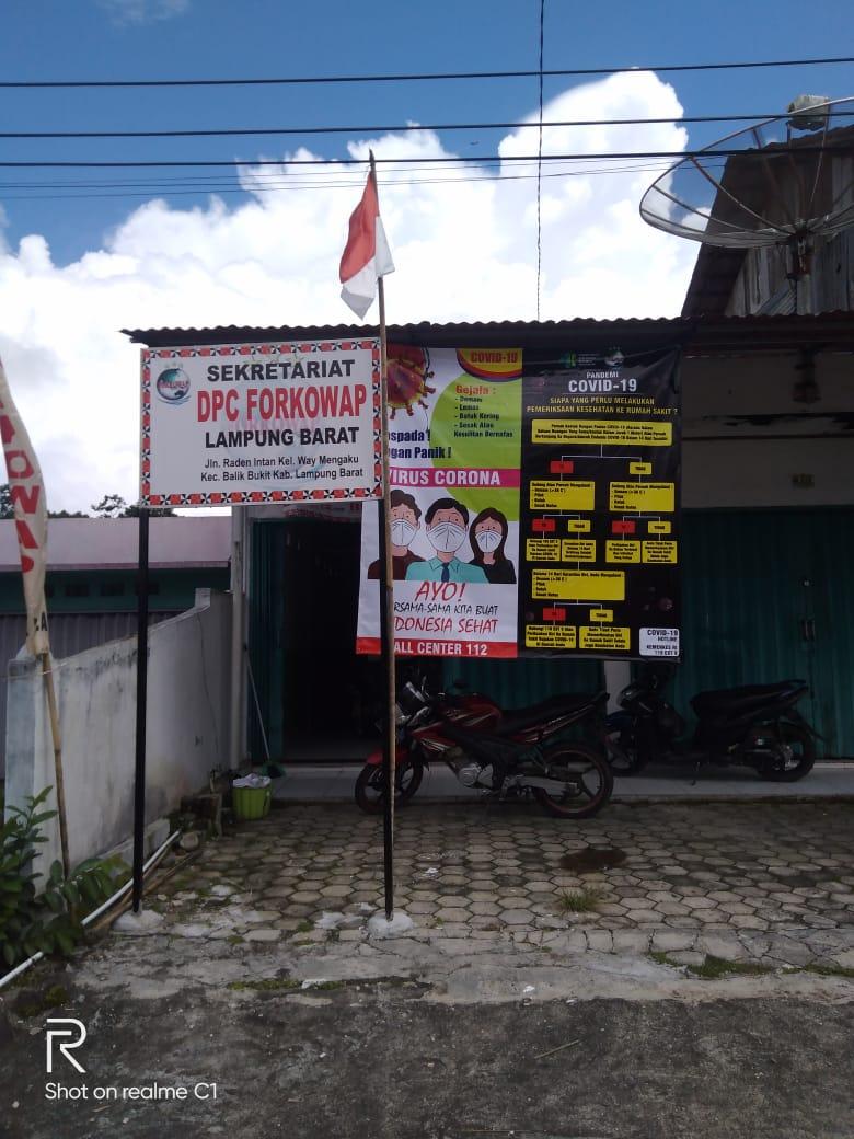 Ketua DPC Forkowap Lambar Soroti Dana Covid- 19 Kabupaten Lampung Barat