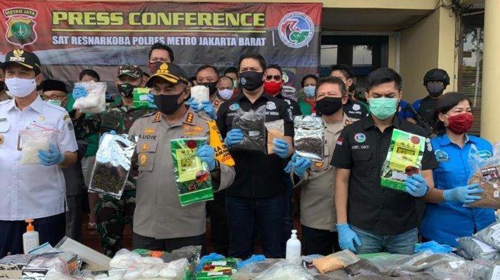 Polres Jakbar Musnahkan Narkoba Selamatkan 218.893 Jiwa