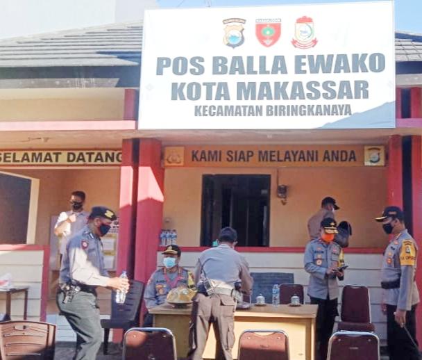 Wakapolda Sulsel Meninjau Pos Balla Ewako, Kecamatan Biringkanaya Kota Makassar