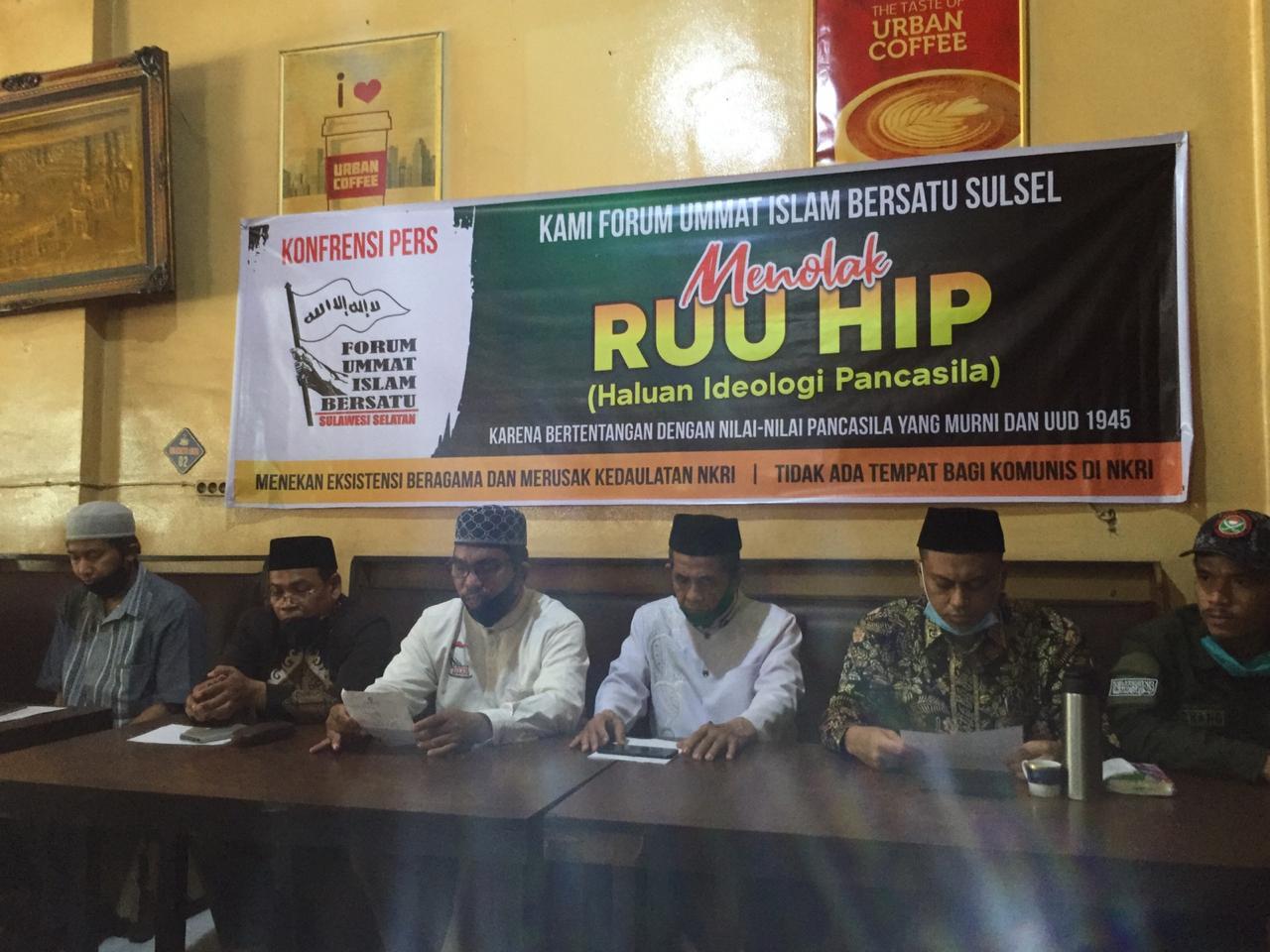 Tanggapi RUU HIP, Ini Pernyataan Sikap FUIB Sulawesi Selatan