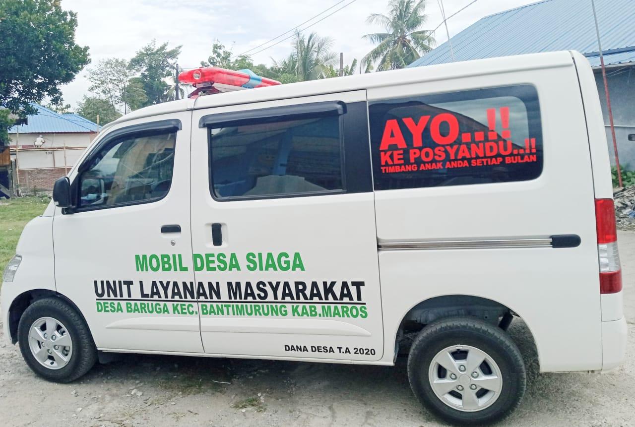 Warga Desa Baruga Kecamatan Bantimurung Sambut Baik Pengadaan Mobil Layanan Kesehatan