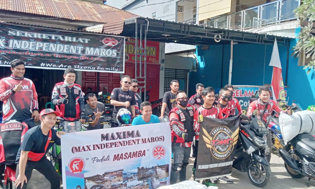 Maxima Maros Salurkan Bantuan ke Lokasi Banjir di Luwu Utara