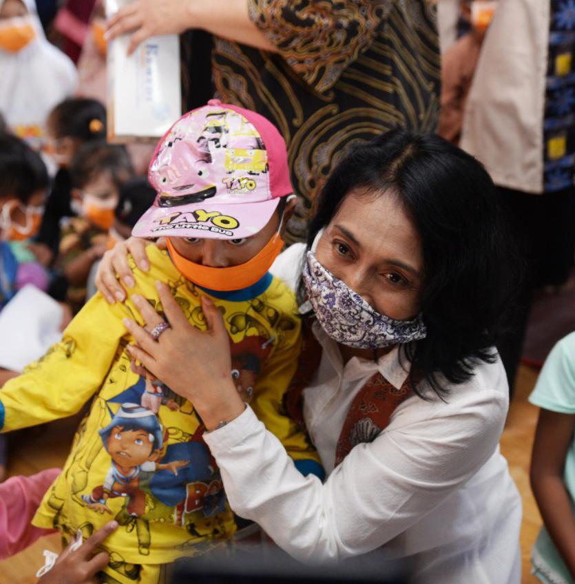 Sambut Hari Anak Nasional, Anak Korban Bencana di Lebak Agar Gembira Dihibur Menteri PPPA