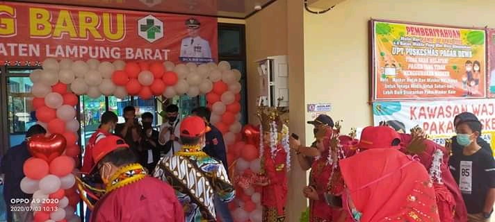 Parosil Mabsus Resmikan UPT Puskesmas Kecamatan Pagar Dewa  Kab.Lampung Barat