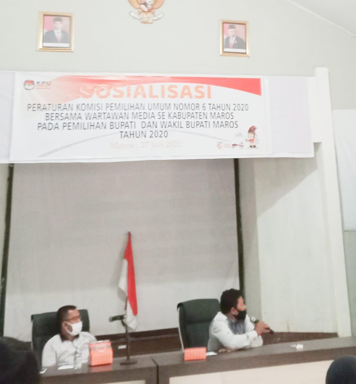 Masa Pandemi Covid-19, KPUD MarosOptimis Partisipasi Pemilih Meningkat