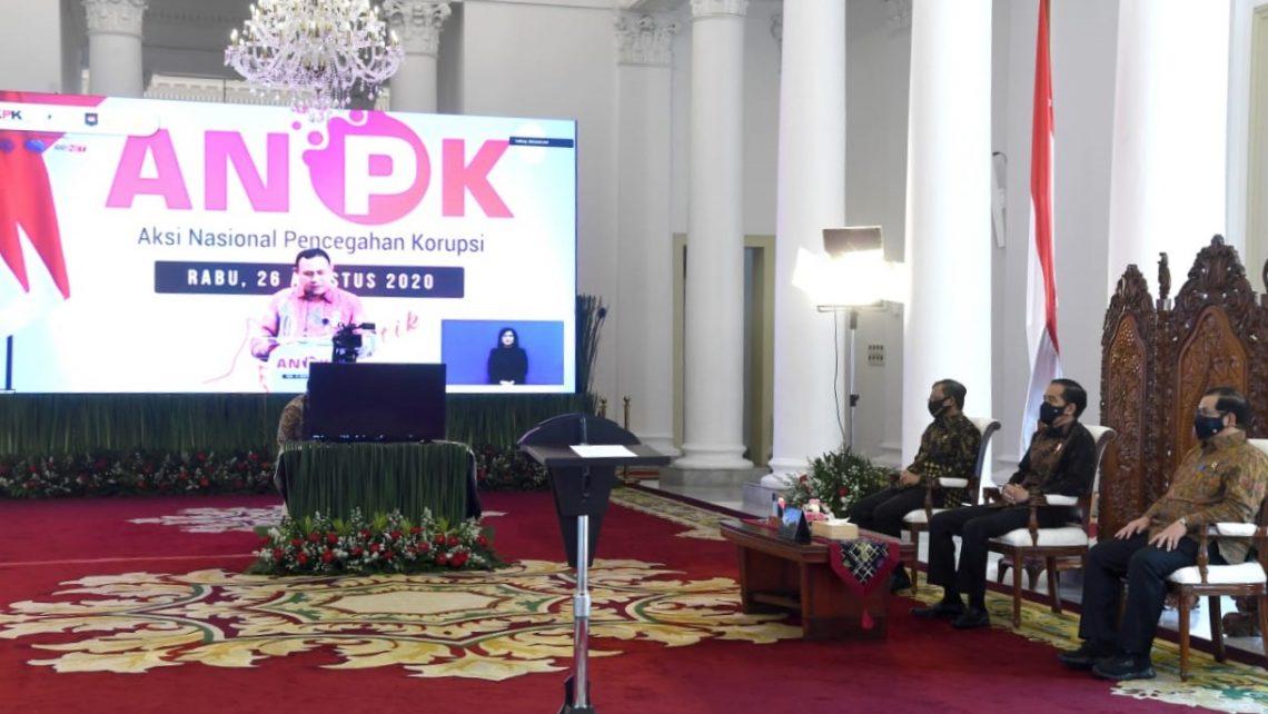 Aksi Nasional Pencegahan Korupsi, Presiden Ingatkan Penegak Hukum dan Pengawas Tidak Memanfaatkan Hukum Atau Regulasi