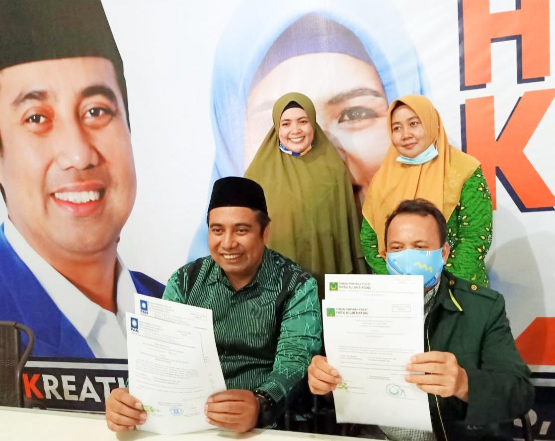 Chaidir – Suhartina Terima SK Model B.1.KWK Partai Bulan Bintang