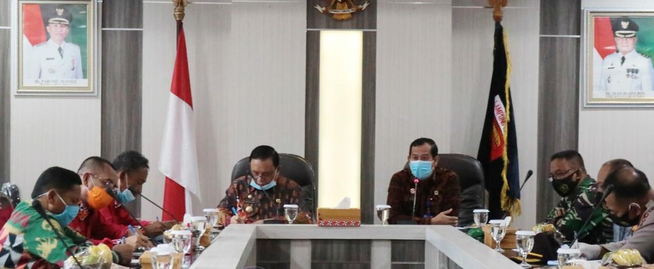 Wakil Bupati Lampung Barat Rapat Audiensi Dengan Kakanwil Kemenkumham Provinsi Lampung