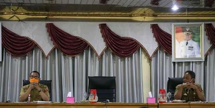 Pemkab Lambar Melakukan Rapat Persiapan Perayaan HUT RI ke-75 Sesuai Protokol Kesehatan