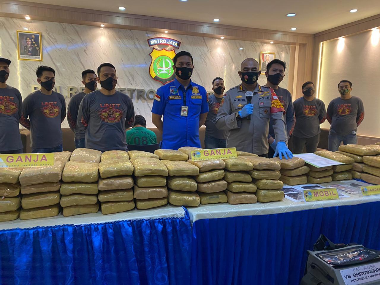 Kinerja Kembali Dibuktikan, Satres Narkoba Jakarta Barat Gagalkan Peredaran Narkoba Lintas Provinsi