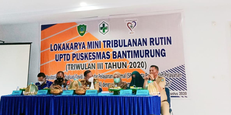 Lokakarya Mini Tribulanan Rutin UPTD Puskesmas Bantimurung, Triwulan Lll Tahun 2020
