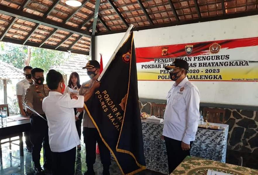 Kapolres Majalengka Kukuhkan Pokdarkamtibmas Bhayangkara Periode 2020-2023
