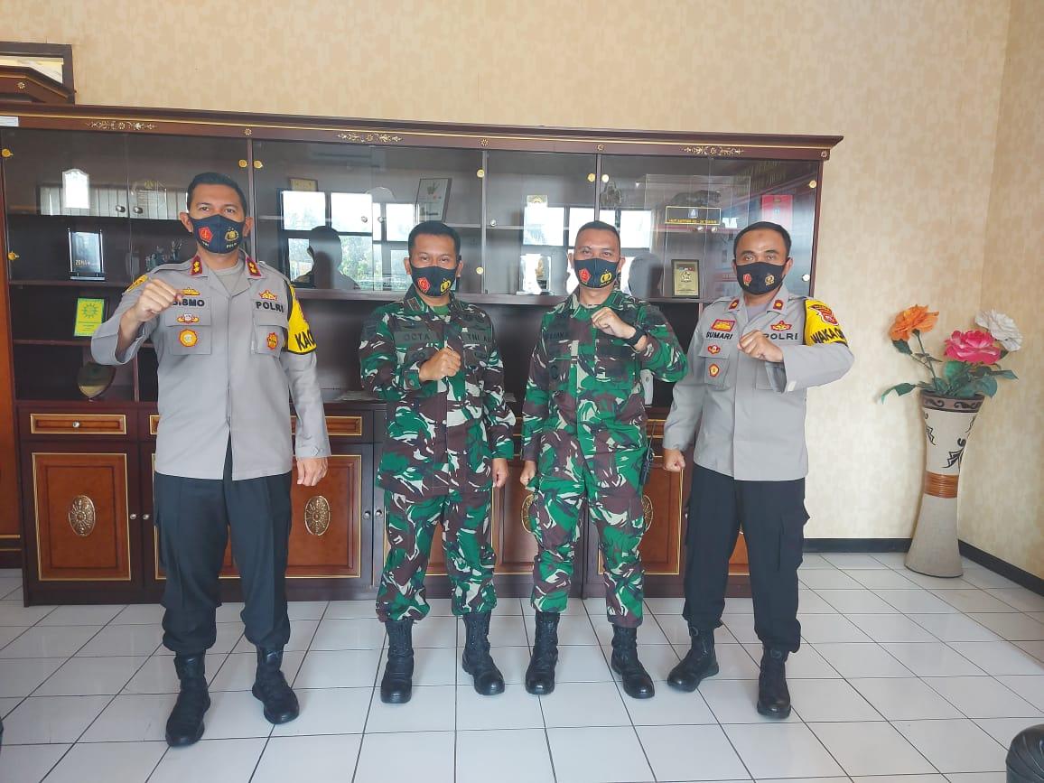 Sinergitas TNI Polri, Kapolres Majalengka Sambut Kunjungan Silaturahmi Danyon Raider 321