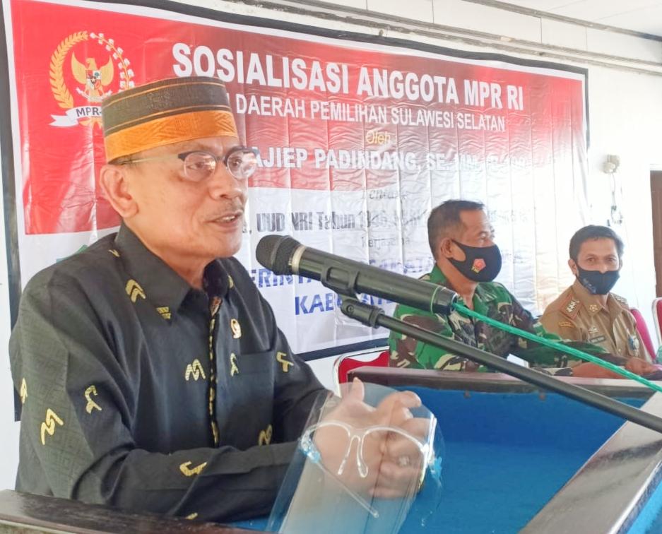 DR H.Ajiep Padindang, SE,MM Sosialisasi Empat Pilar MPR di Kabupaten Maros