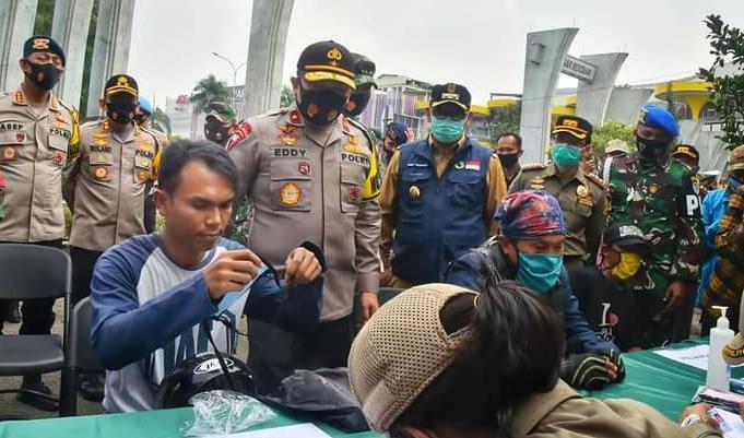 Operasi Yustisi di Kabupaten Bogor Ditinjau Wakapolda Jabar