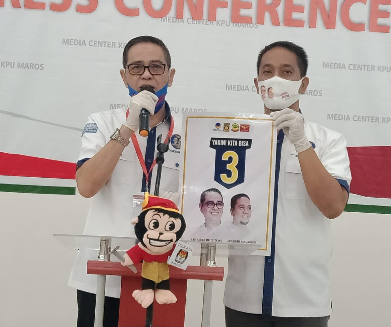 Andi Harmil Mattotorang (Maros Unggul) Optimis Nomor 3 Kembali Antar Jadi pemenang di Pilkada Maros