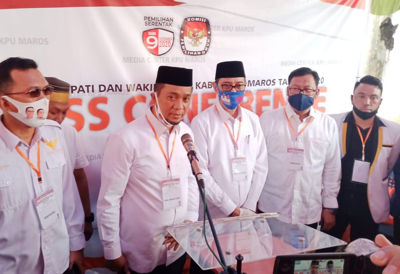 Bacalon Bupati dan Wabup Maros Pilkada 2020, Pasangan Harmil Mattotorang – Ilham Nadjamuddin Pendaftar Pertama di KPU