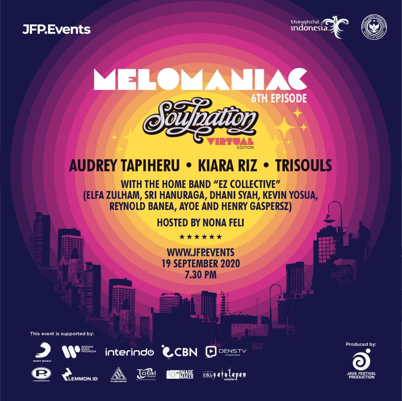 Festival Production Hadirkan Live Music Virtual 'Melomaniac 6th' Temani Suasana PSBB
