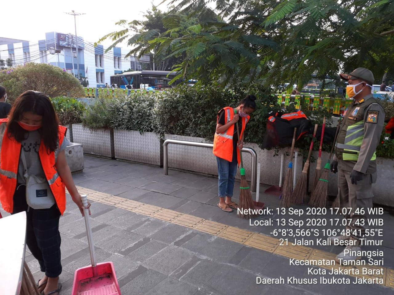 Kecamatan Taman Sari Jakarta Barat, Razia PSBB Transisi Lanjutan