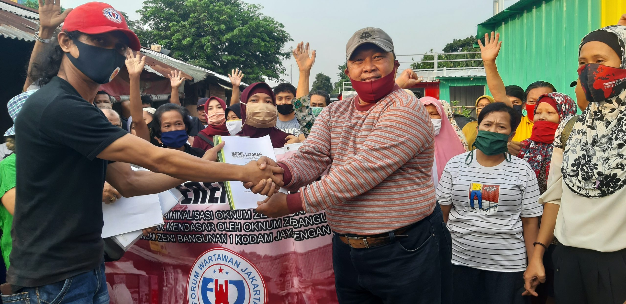 Dugaan Konspirasi Oknum Zeni Bang-1 Kodam Jaya Dengan PT. PSS Ancam Gusur 170 Pedagang Kreatif di Pasar Rebo