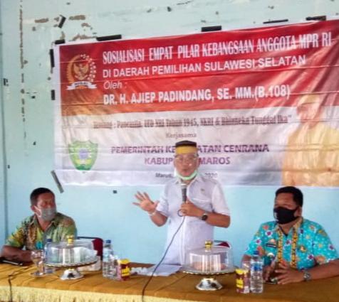 DR.H.Ajiep Padindang SE MM  Sosialisasi Empat Pilar MPR RI Di Kecamatan Cenrana Kab. Maros