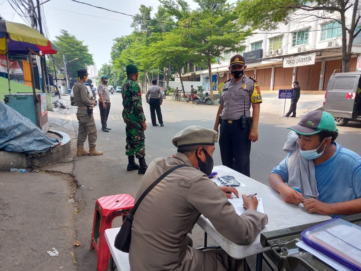 11 Pelanggar Prokes Tidak Pakai Masker Operasi Yustisi di Tambora Dikenakan Sanksi
