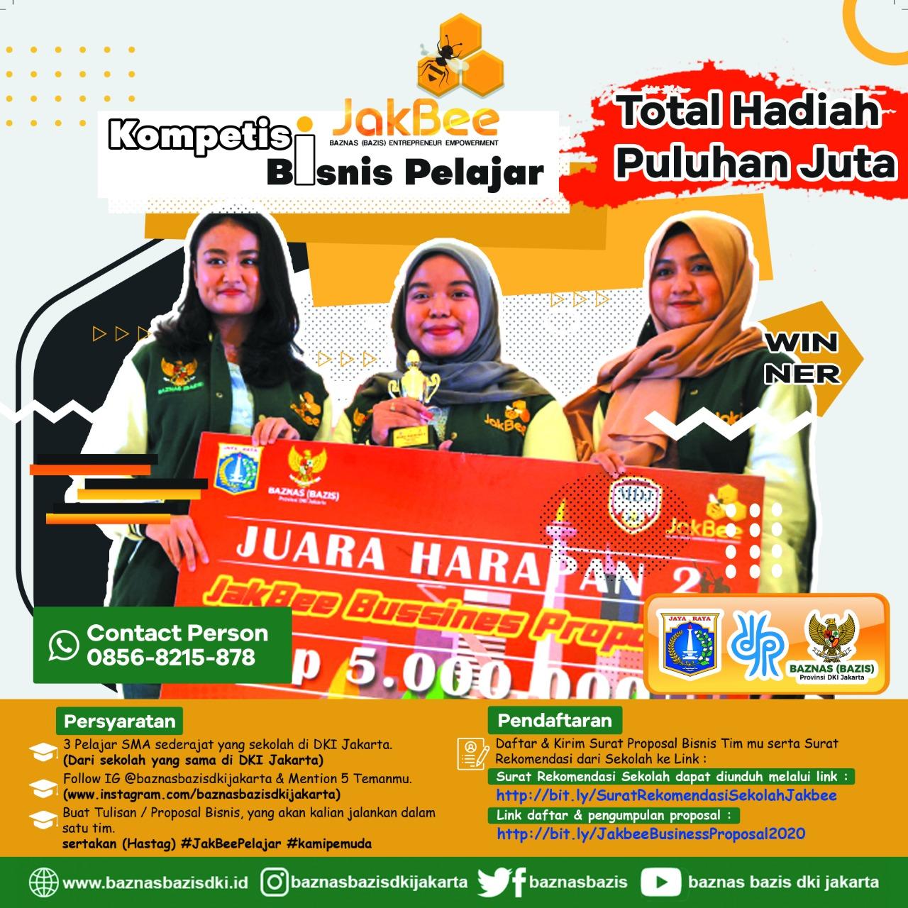 Kompetisi Jakbee Bagi Pelajar Tingkar SMA Diadakan Baznas Bazis Jakarta Utara
