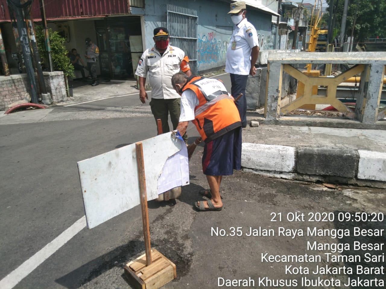Tingkatkan Prokes bersama 3 Pilar di Kawasan Mangga Besar V Jakarta Barat
