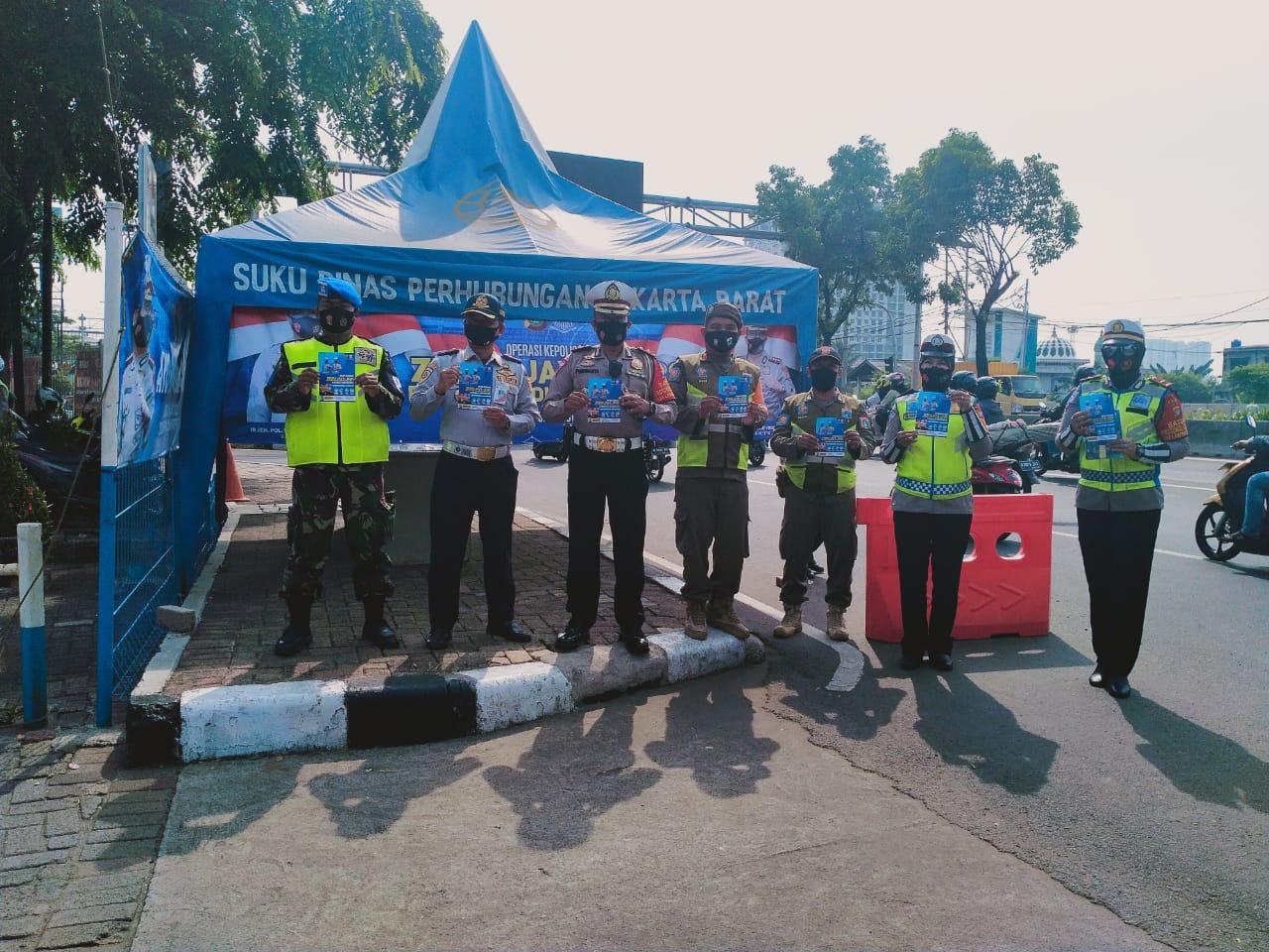 Polantas, Pol PP dan Dishub Lakukan Operasi Zebra 2010 di Jalan Daan Mogot Raya