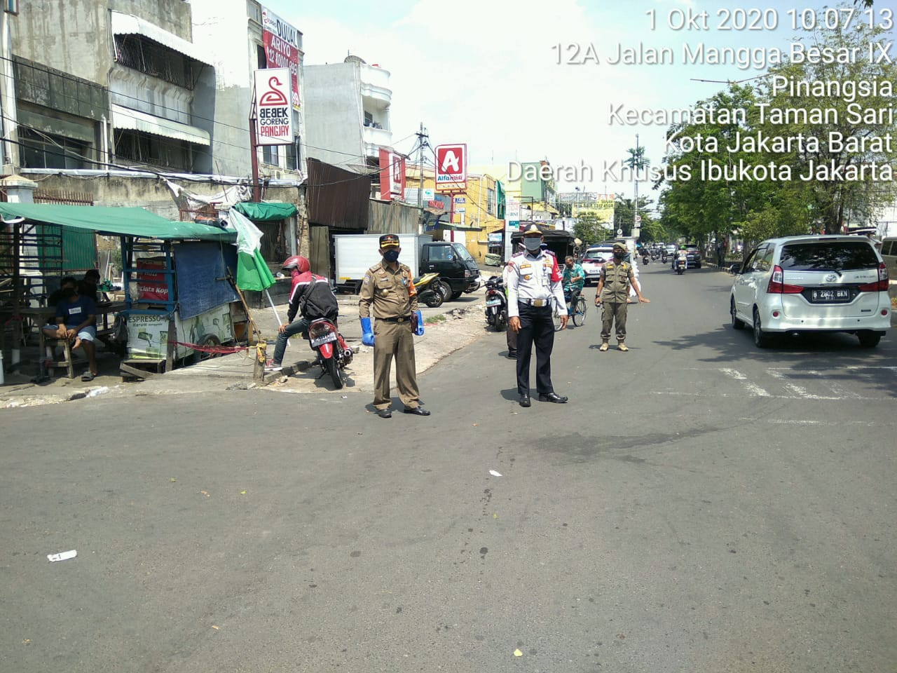 Dishub Taman Sari, Gencarkan Operasi Masker di Jalan Pangeran Jayakarta