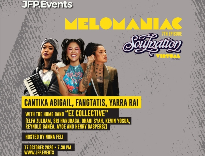 """Konser Virtual """"Melomaniac 7th Episode"""" Disemarakan 3 Wanita Solois Cantika Abigail, Fangtatis dan Yarra Rai"""