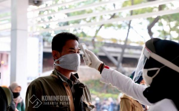 Kasatppol PP: Kesadaran Penggunaan Masker Warga di Wilayah Kota Jakarta Pusat Meningkat