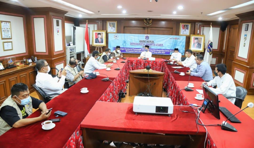Rapat Kerja Dewan Kota Pemkot Jakut Membangun Kolaborasi Pemerintah, Swasta, Ormas dan Masyarakat