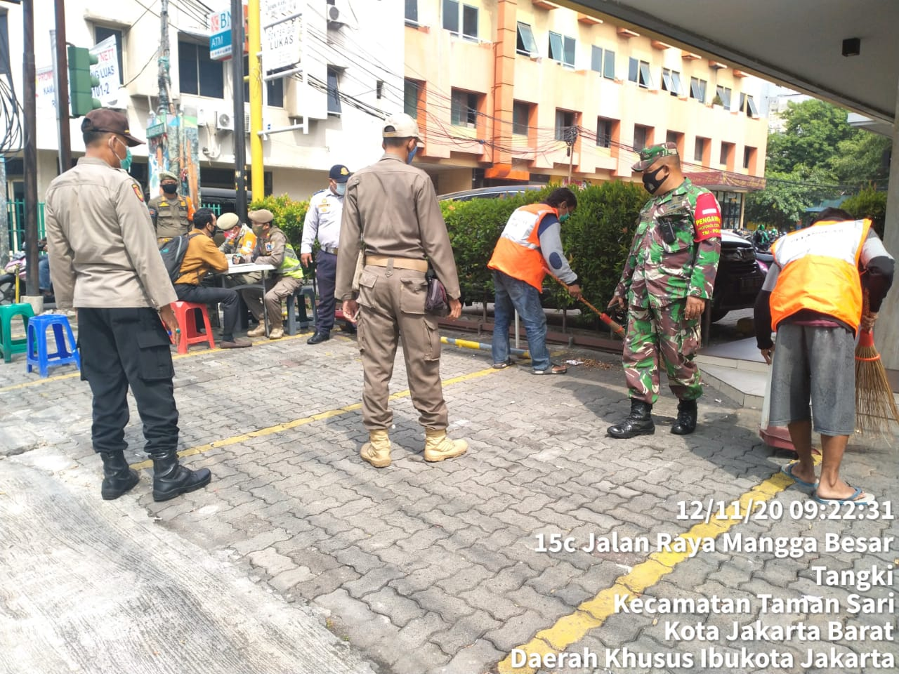 Masih Kedapatan 14 orang Pelanggar Prokes di Mangga Besar Raya, Tamansari Jakarta Barat