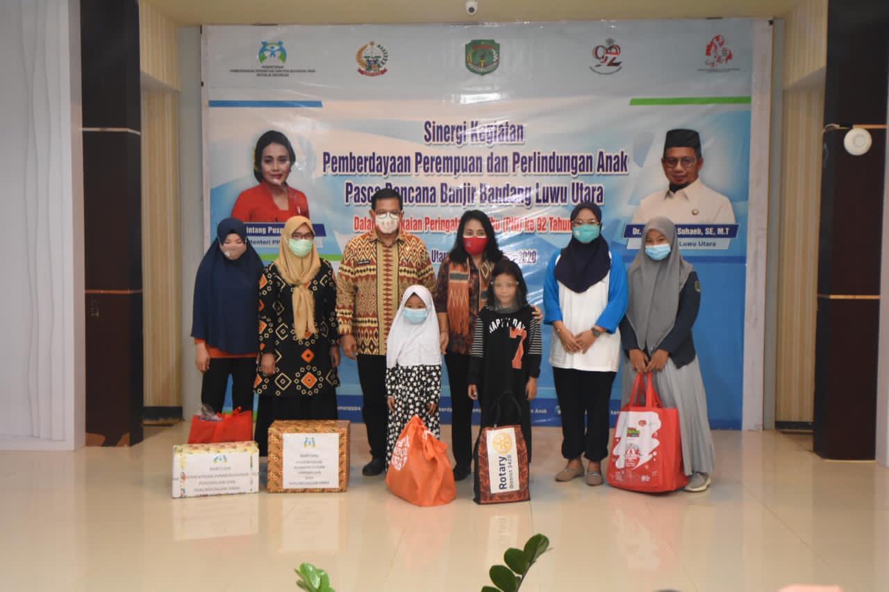 Mencermati Bencana Masamba, Menteri PPPA Bersinergi Bantu Pemulihan Perempuan dan Anak
