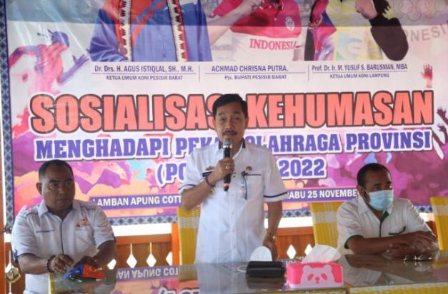 Pemkab Pesibar Gelar Sosialisasi Kehumasan Jelang Porprov Lampung ke -IX