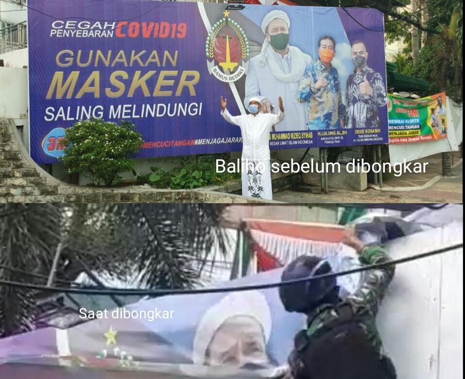 Baliho Bamus Betawi Ikut Disikat TNI, Eki Pitung Minta Pangdam Jaya Klarifikasi