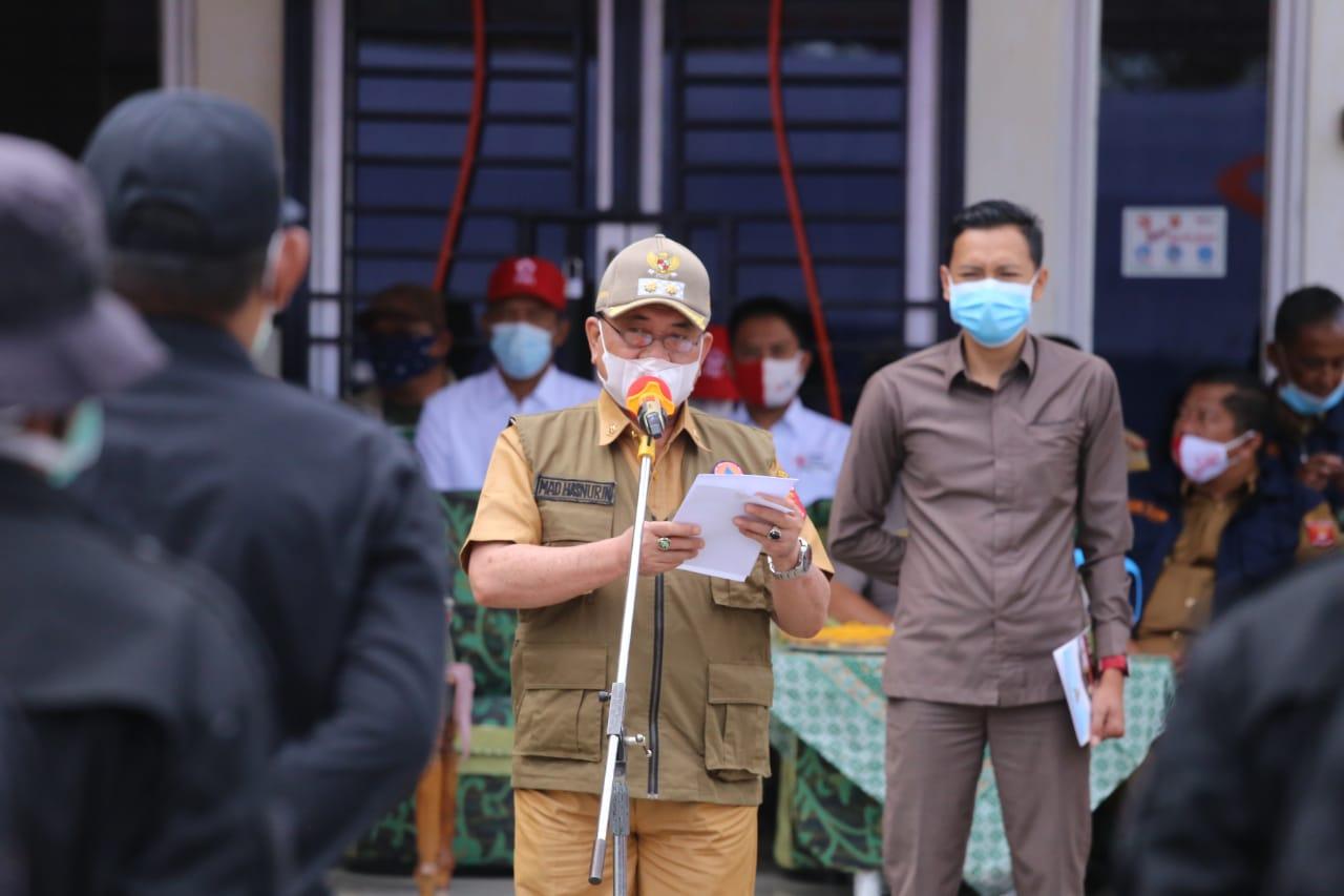 Wakil Bupati LambarHadiri Gelar Pasukan Satgas Penanggulangan Bencana