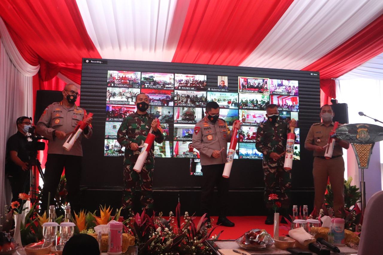 Kapolda Metro Jaya Launching Kampung Tangguh di Cengkareng Jakarta Barat, Upaya Tekan Pandemi Covid 19