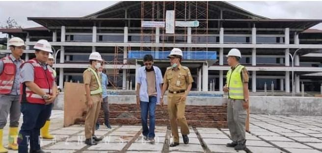 Sidak Proyek Pembangunan Pemda, Bupati Meminta PT. Jaya Konstruksi Mengedepankan Kualitas
