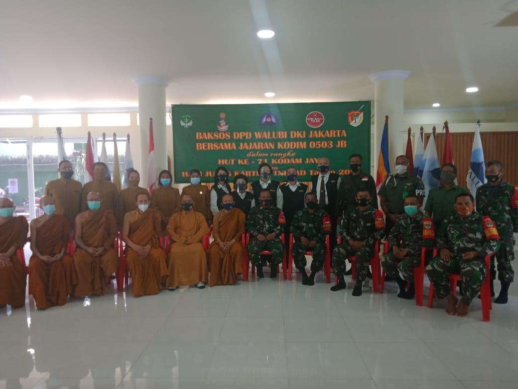 Peringati Hari Juang Kartika TNI ADdan HUT ke-71 Kodam Jaya, DPD Walubi Gelar Baksos